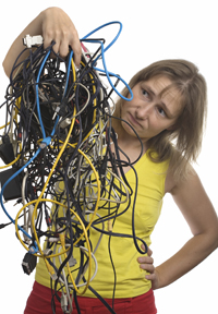mess of cables